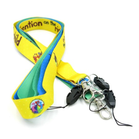 Lanyards Blue Green Yellow