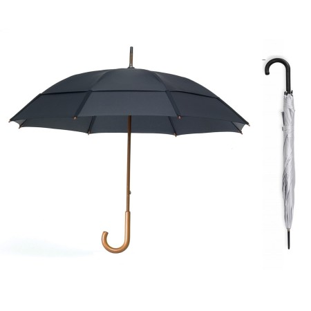 24 Inch Long Double layer J-Hook Umbrella Simplicity Gifts - Corporate Gifts Singapore - simplicitygifts.com.sg