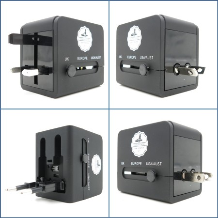 OCBC Securities - Customised Cube Travel Adaptor - Simplicity Gifts - Corporate Gifts Singapore - simplicitygifts.com.sg