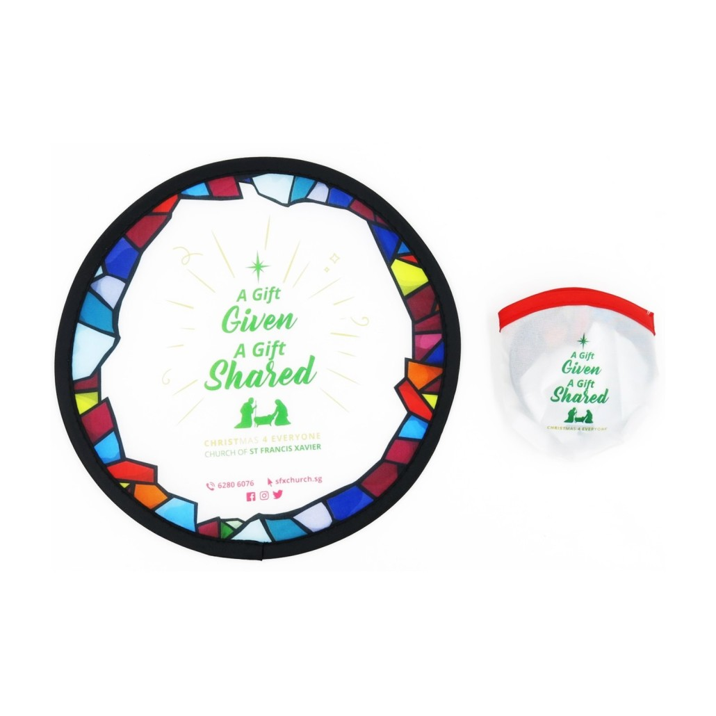Church of St Francis Xavier - Foldable Fan - Simplicity Gifts - Corporate Gifts Singapore - simplicitygifts.com.sg