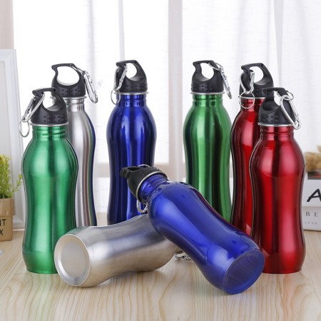 350mL 500mL 600mL Curve Stainless Steel Sports Bottle - Simplicity Gifts - Corporate Gifts Singapore - simplicitygifts.com.sg