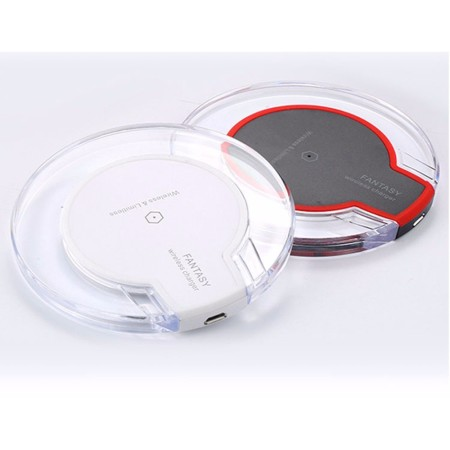 5W Round Clear Qi Wireless Charger - Simplicity Gifts - Corporate Gifts Singapore - simplicitygifts.com.sg