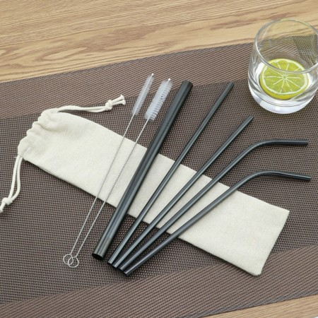 8 Piece Metal Straw set - Simplicity Gifts - Corporate Gifts Singapore - simplicitygifts.com.sg