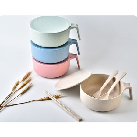 Wheat Cutlery Set with Bowl - Simplicity Gifts - Corporate Gifts Singapore - simplicitygifts.com.sg