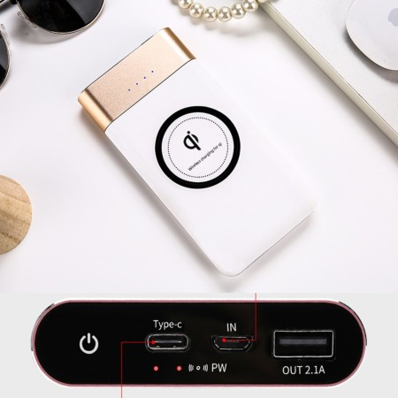 10000mah Type C Qi Wireless Powerbank - Simplicity Gifts - Corporate Gifts Singapore - simplicitygifts.com.sg