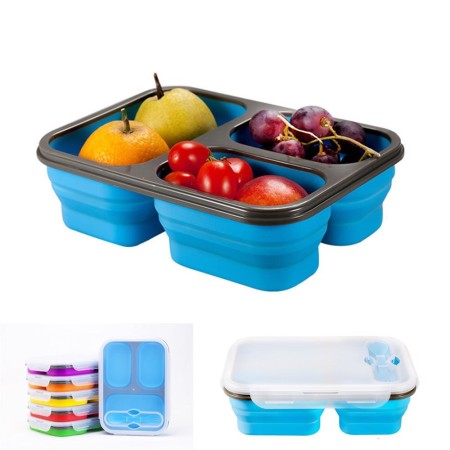 Compartment Foldable Silicone Lunch Box - Simplicity Gifts - Corporate Gifts Singapore - simplicitygifts.com.sg (1)