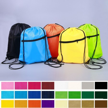Drawstring Bag with zip - Simplicity Gifts - Corporate Gifts Singapore - simplicitygifts.com.sg