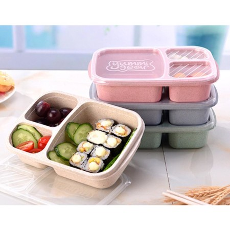 Wheat Compartment Lunch Box - Simplicity Gifts - Corporate Gifts Singapore - simplicitygifts.com.sg (1)