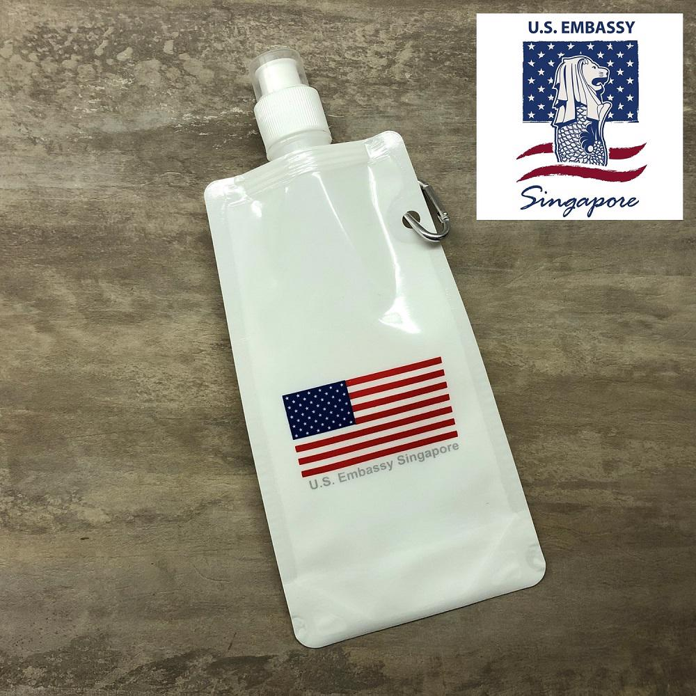 American Embassy - Foldable Water Bottle - Simplicity Gifts - Corporate Gifts Singapore - simplicitygifts.com.sg (2)